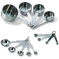Tablecraft H726 Juego de tazas medidoras para hornear, una docena, incluye cucharas medidoras, tazas de medición y…
