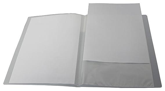 Transparent Limone Sichtbuch A4 mit Beschriftungsfenster mit 10 H/üllen farbig