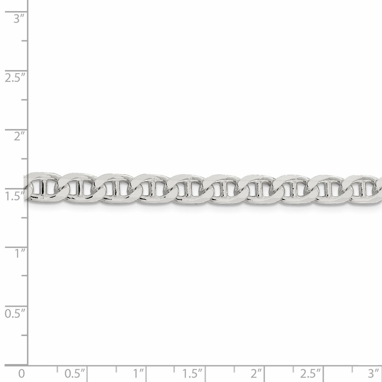 Lex /& Lu Sterling Silver 6.5mm Flat Anchor Chain Bracelet or Necklace