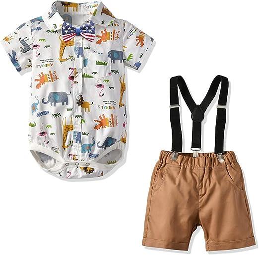 Nwada Boys Shorts and Tshirt Sets 2pcs Outfits Clothing Set Summer Toddler Boy Clothes