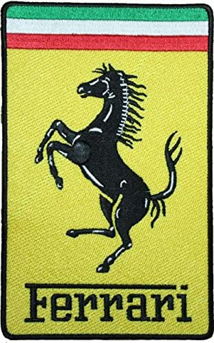 Ferrari Logo écusson Brodé Badge Patch 7 6 Cm Coudre Ou Thermocollant Amazon Fr Cuisine Maison
