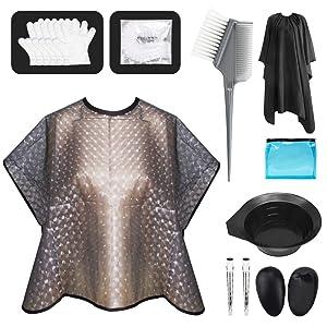 Hair Dye Kit 20 Pieces Hair Dye Brush, Hair Dye Gloves, Hair Dye Bowl, Hair Dye Brush Applicator, Hair Dye Brush And Bowl Set For Salon And Home DIY(Grey)