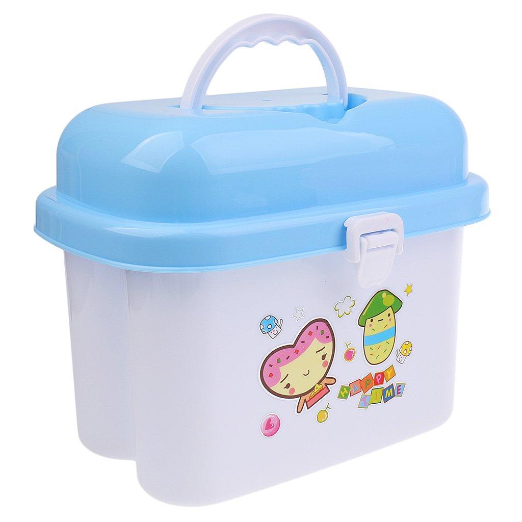 Prettyia Baby Flaschenbox Flaschenkiste mit Trockenst/änder f/ür Flaschen Becher Schnuller Babyflaschen Aufbewahrungsbox