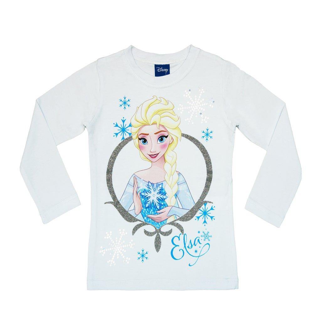 Disney Eiskönigin Mädchen LANGARM-SHIRT, Oberteil in GRÖSSE 98, 104, 110, 116, 122, 128, 134, Longsleeve, Sweat-Shirt in rosa oder weiß mit süßem Motiv von Elsa, T-Shirt lang