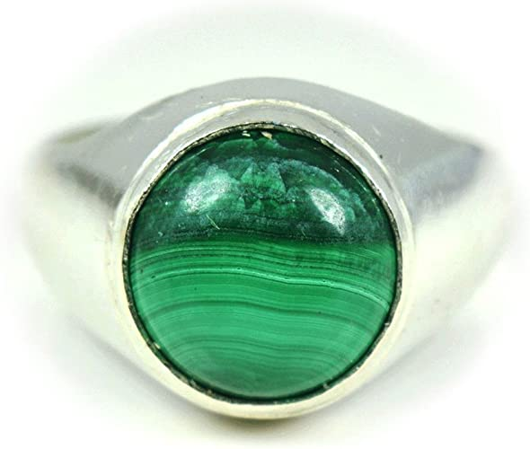 Size 7 12 Natural Green Moldavite Ring