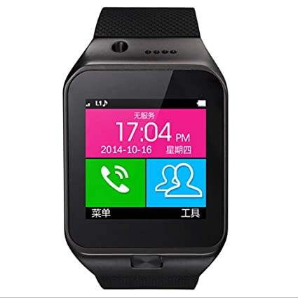 Bluetooth Smart Watch Phone for Android touch screen Android BT3.0 Can Insert SIM Car SmartWatch Phone portables montre intelligente des appels mains ...
