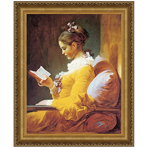 Design Toscano A Young Girl Reading, 1770-72 Canvas Replica Painting: Large