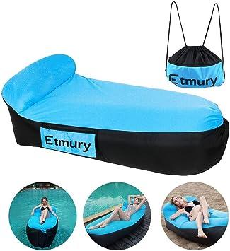 Sofa Hinchable con almohada integrada y bolsa,Etmury tumbona ...