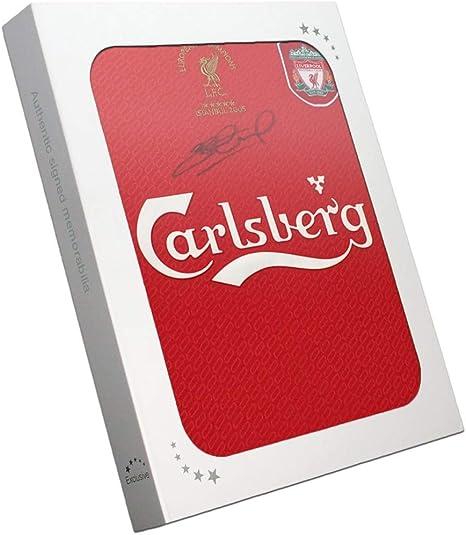 exclusivememorabilia.com Camiseta de la Liga de Campeones de Liverpool 2005 firmada por Steven Gerrard. En Caja de Regalo: Amazon.es: Deportes y aire libre