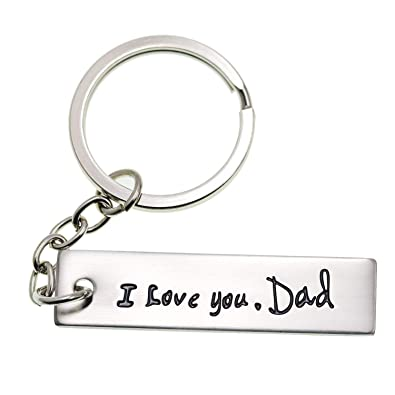 Amazon.com  LParkin I Love You Dad Keychain (White)  Office Products f4fe64ce0900