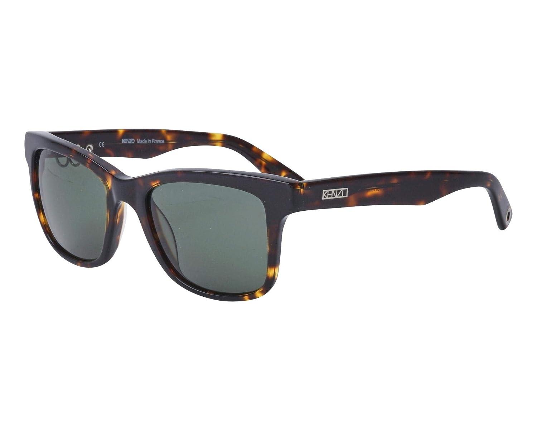 7ac09bbdf4 Amazon.com  Kenzo sunglasses (KZ-3195 C02) Dark Havana - Grey green lenses   Clothing