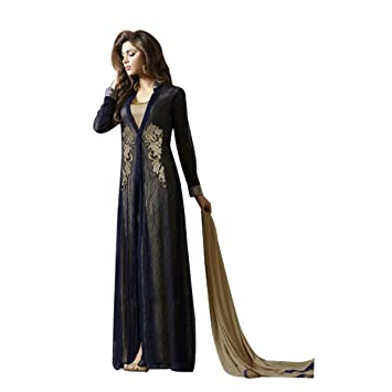 Bollywood Vestido Anarkali Traje de Shalwar Indio musulmán ...
