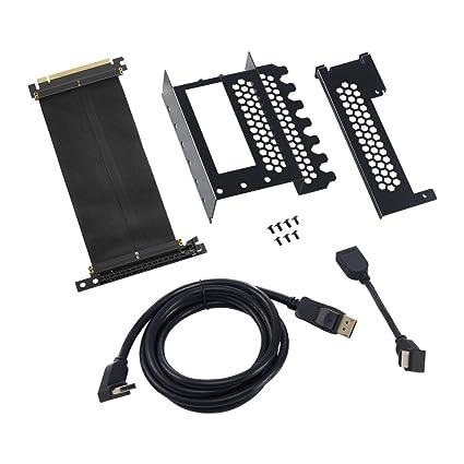 CableMod Soporte para Tarjeta gráfica Vertical Cable Vertical PCIe x16, 1x DisplayPort, 1x HDMI - Negro