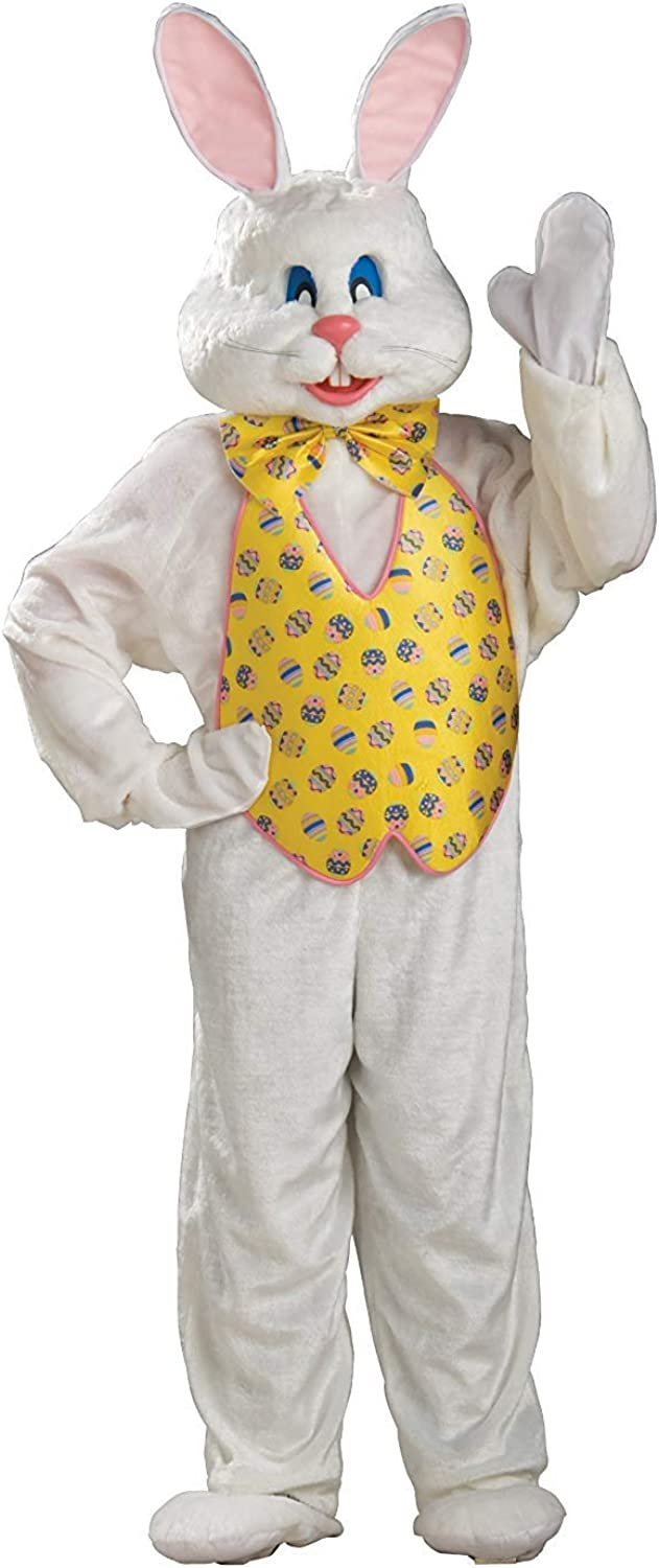 Rubie's Adult Deluxe Bunny Costume with Mascot Head