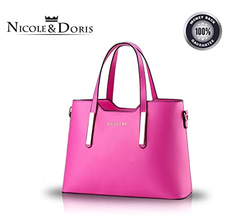 Nicole&Doris nuevos bolsos de las mujeres estereotipos cartera mensajero del hombro(Rose)