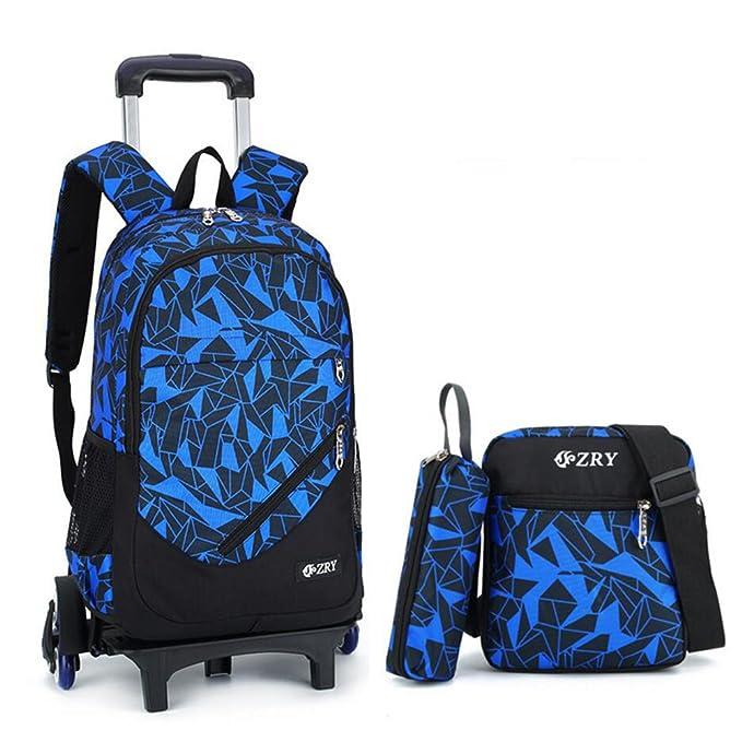 ebf789a7ce8c School Bag with Wheels YUB School Bags for Boys and Girls Six Wheels