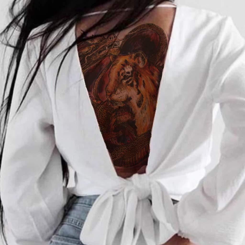 CARGEN 4 Hojas Dragón de espalda Completa Tatuaje Temporal Body ...