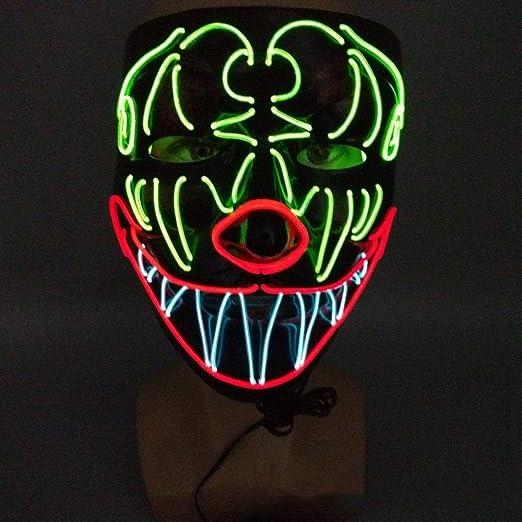 la Navidad Immoch Halloween LED M/áscaras Adultos LED Mask para la Fiesta de Disfraces Cosplay Grimace Festival Party Show