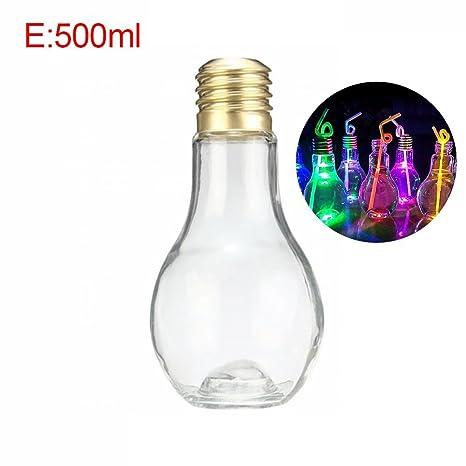 Storagc - Botella de Agua de plástico para Bebidas, diseño Creativo, E:500ml