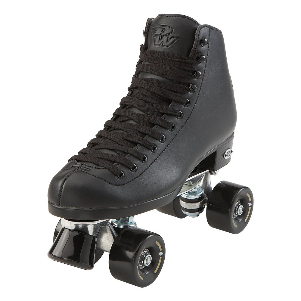 Riedell RW Skates - Wave - Quad Roller Skates for Indoor/Outdoor | Black | Size 4 | by Riedell (Image #1)