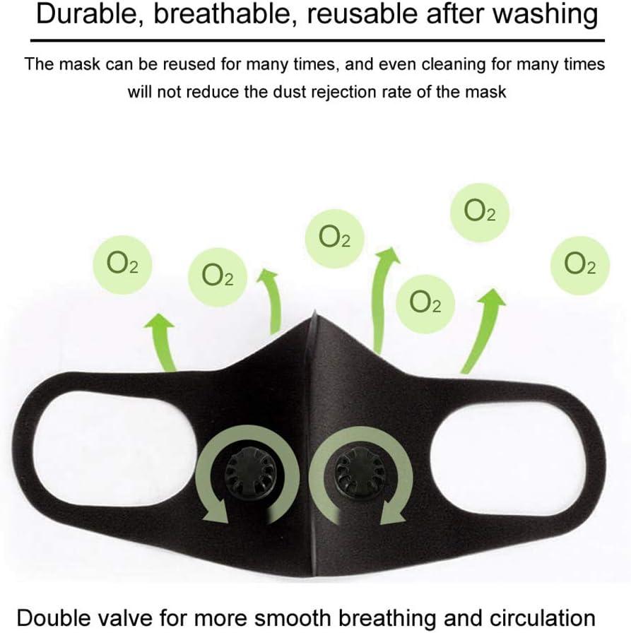 2Pcs Unisex Face Protection Shield wi Filter Washable Reusable