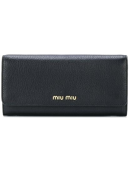 e6cb5b99db Miu Miu Women s 5Mh1092bjif0lj4 Black Wallet  Amazon.co.uk  Clothing