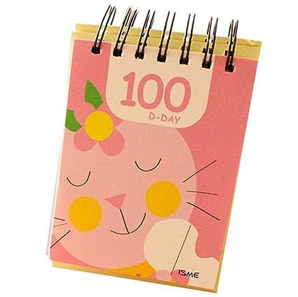 cosanter – Cuaderno, 100 hojas, bonito Caricatura Papeterie para gestión de tiempo, archivador