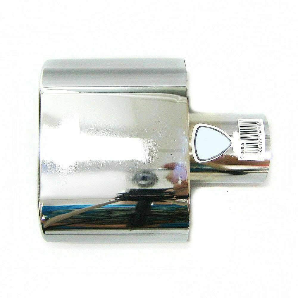 universal A B C G H J CC 3 4 5 6 7 Embellecedor de tubo de escape hasta 57 mm acero inoxidable Autohobby 366A cromado