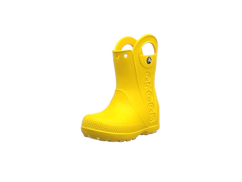 Crocs Girls/' Bump It Yellow Rain Boots Size 10