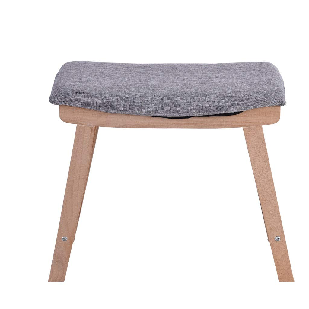 Inverlee home Vanity Modern Concave Seat Surface Makeup Dressing Stool Padded Bench with Legs (Gray)