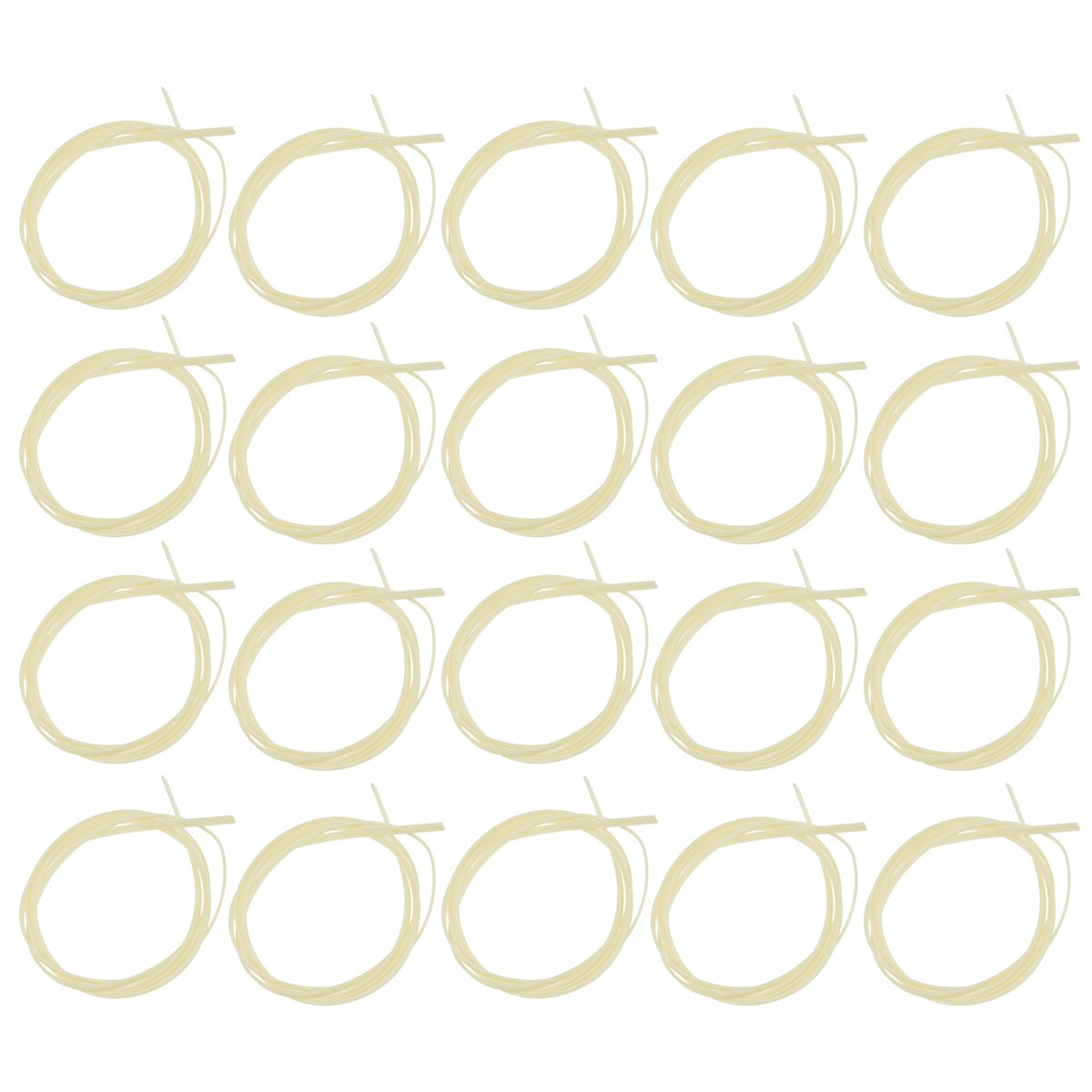 Kmise Guitar Binding Purfling Strip for Luthier Diy Project Supplies ABS Plastic 1650 4 1.5mm 20 Pcs