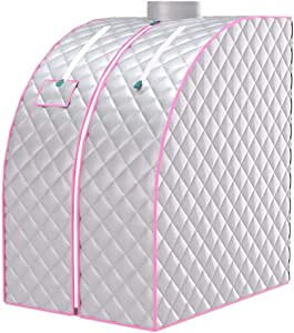Portable Steam Sauna Spa, Personal Folding Sauna Tent with Folding Chair and 2L Steam Pot, Therapeutic Sauna Tent Pot with Remote Control for Weight Loss Detox Reduce Stress Fatigue Indoor Home