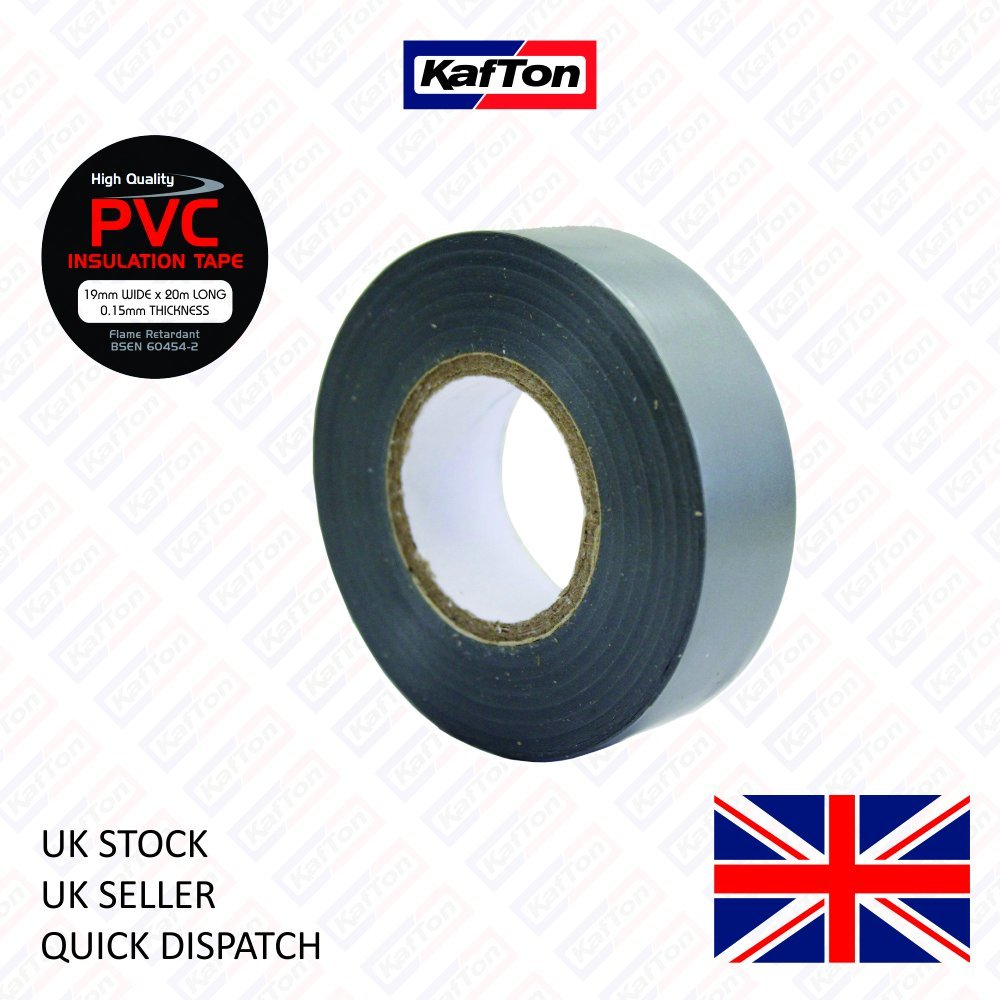 ELECTRICAL PVC INSULATION INSULATING TAPE 19mm x 20m FLAME RETARDANT