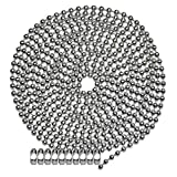 10 Foot Length Ball Chain, Number 10 Size, Nickel