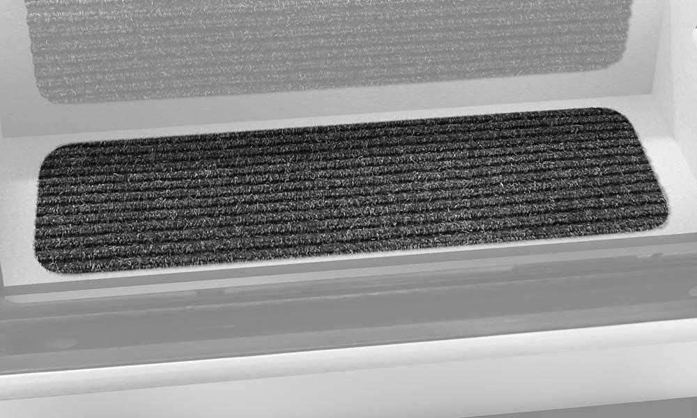 Prest-O-Fit 5-1093 Decorian Step Huggers For RV Landings Peppercorn Black 8 In x 23.5 In.