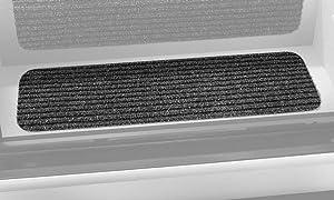 Prest-O-Fit 5-3090 Decorian Step Huggers For RV Landings Black Granite 10 In. x 23.5 In.