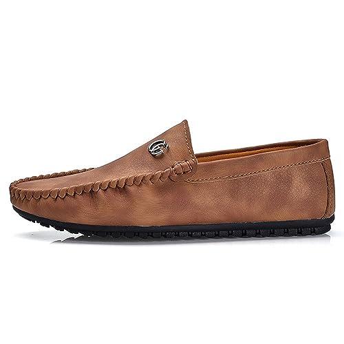 Mocasines para Caminar Zapatos Casuales Respirables Retros Masculinos del Estilo británico del Verano Zapatos de Barco: Amazon.es: Zapatos y complementos