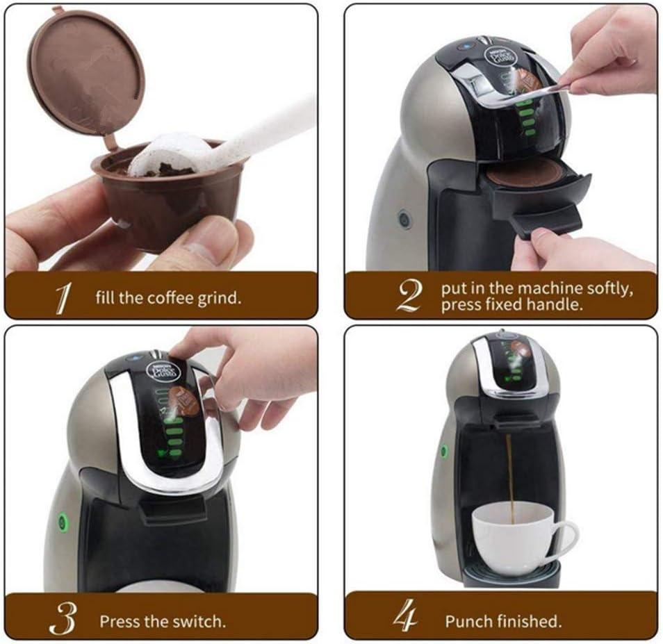 SENT CHARM 3 Home Kitchen - Filtro de recambio reutilizable para cafetera Nescafe Dolce Gusto, con cuchara y cepillo: Amazon.es: Hogar
