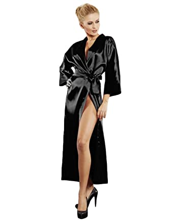 DKaren Luxury Nightgown Satin Dressing Gown Robe Kimono Sleepwear ...