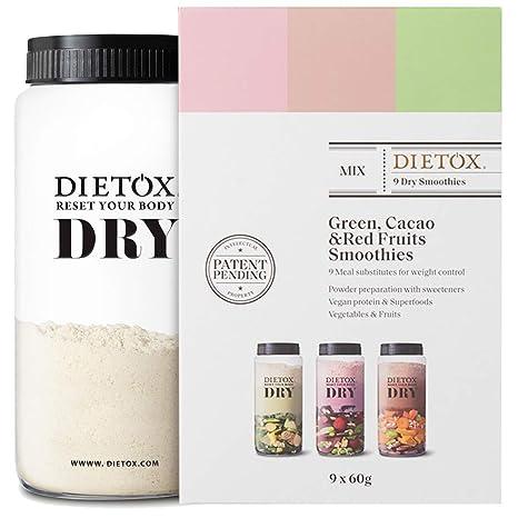 Dietox Dry Smoothies | Batidos de Proteínas Veganos Sustitutivos ...