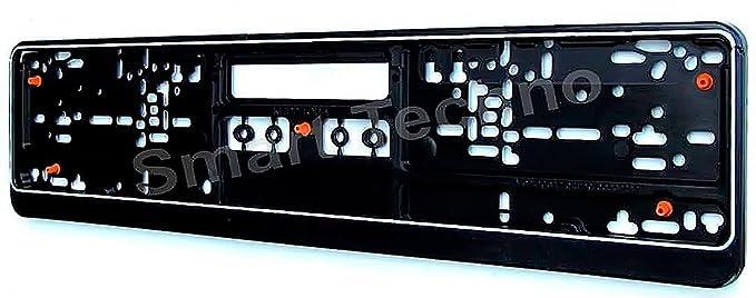 Matrícula Soporte para cartel (para matrícula Negro con goma, Anti-Vibration: Amazon.es: Coche y moto