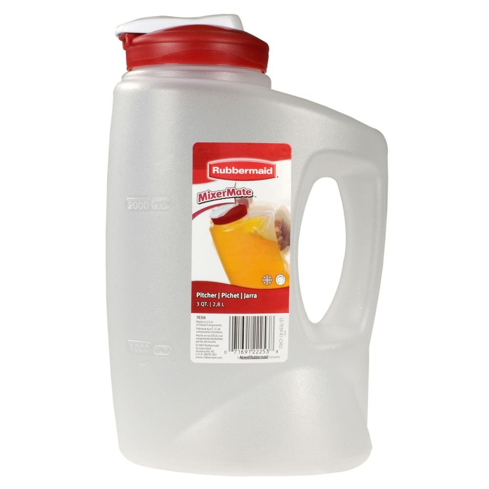 Rubbermaid 7E59RDCHILI MixerMate Pitchers--3 QT - Random Colors