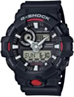 Casio Men's 'G SHOCK' Quartz Resin Casual Watch, Color:Black (Model: GA-700-1ACR)