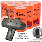 Monarch 1115 Price Gun With Labels Value Pack: Includes Monarch 1115 Pricing Gun, 90,000 Fluorescent Red Pricemarking Labels, Bonus Inkers