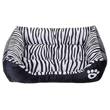 JYCRA Sofá cama para mascotas, tela Oxford impermeable, cómodo para perro, gato o animales pequeños (rayas de cebra): Amazon.es: Productos para mascotas