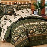 Complete Queen Bed Set Blue Ridge Trading Rocky Mountain Elk Complete Bed Set, Queen, Green/Brown