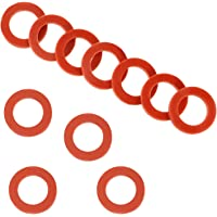 35 Pack Garden Hose Washers Silicone Rubber Washers Seals O Rings Red Soft Silicone Gasket Fittings for 3/4 Inch Garden…