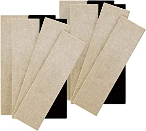 Super Sliders 4704495A Reusable Sliders for Hardwood Floors Move Heavy Furniture Quickly and Easily, 12 Pack, Linen, 12 Piece