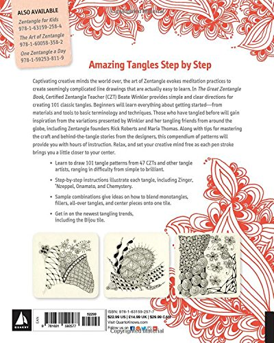 Amazon Com The Great Zentangle Book Learn To Tangle With 101 Favorite Patterns 9781631592577 Winkler Beate Books