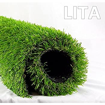 astro turf for dogs fake grass lita 7ft 13ft realistic deluxe artificial grass synthetic thick lawn turf carpet perfect for indooroutdoor landscape 7x13 green amazoncom lawn artficial dog